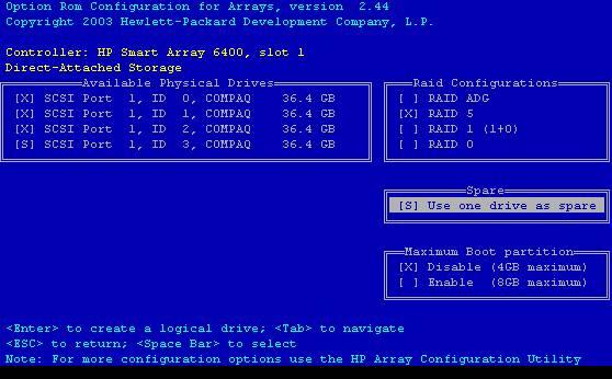 Configuring HP ProLiant Hardware   ASGAUR